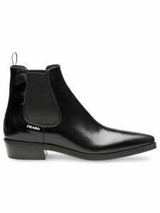 Prada Brushed calf leather booties - Black