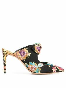 Alexandre Birman floral embroidered mules - Black
