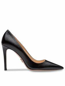 Prada Saffiano textured patent leather pumps - Black