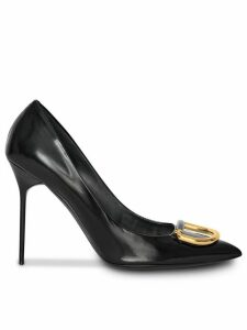 Burberry The Patent Leather D-ring Stiletto - Black