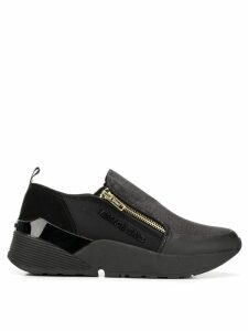Versace Jeans Couture zipped sneakers - Black