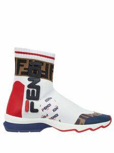 Fendi FendiMania sock style sneakers - White