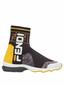 Fendi FendiMania sock style sneakers - Black