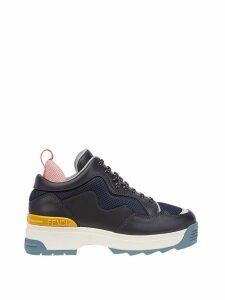 Fendi colourblock platform sneakers - Blue