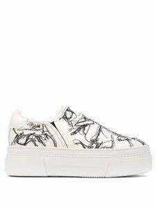 AGL platform slip-on sneakers - White