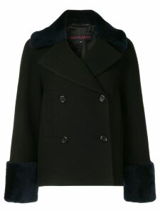 Martin Grant double-breasted shearling coat - Black