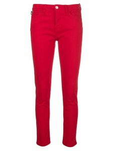 Love Moschino cropped skinny jeans - Red