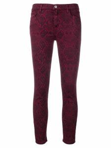 J Brand snake print jeans - Red