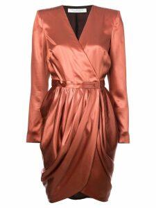 Philosophy Di Lorenzo Serafini wrap front mini dress - Orange