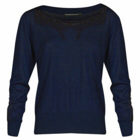 Mado Et Les Autres  Long sleeves embroidery sweater  women's Sweatshirt in Blue