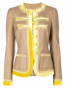 Givenchy contrasting trim jacket - NEUTRALS