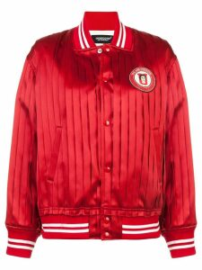 Undercover pleated bomber jacket - Red