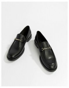 Vagabond Amina Leather Loafer with Horse-bit Detail-Black