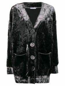Vivetta oversized velvet cardigan - Black