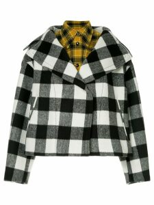 Nº21 oversized lapel layered check jacket - Multicolour