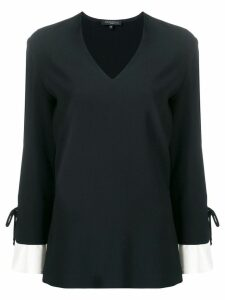 Antonelli lace up cuffs blouse - Black