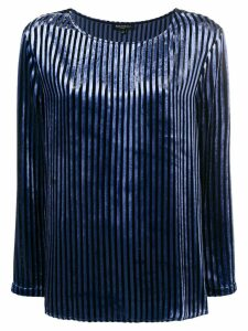 Antonelli striped blouse - Blue