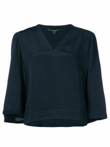 Derek Lam flared cropped blouse - Blue