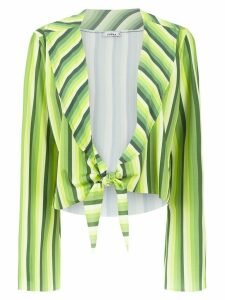 Amir Slama striped cropped top - Green