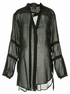 Ann Demeulemeester Tiriel sheer blouse - Black