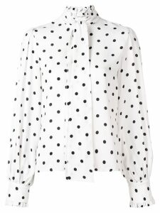 Vivetta polka-dot long sleeve blouse - White
