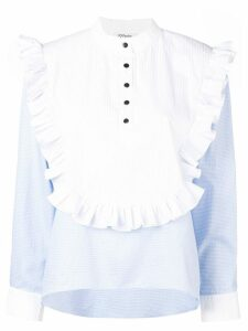 Parlor ruffle detailed blouse - Blue
