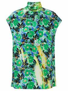 Prada floral overprint top - Green