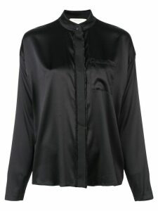 Nicole Miller longsleeved button-down blouse - Black