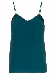 Tibi v-neck silk cami - Blue