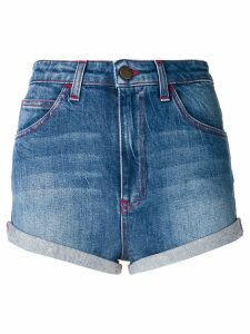 Philosophy Di Lorenzo Serafini turned up hem shorts - Blue