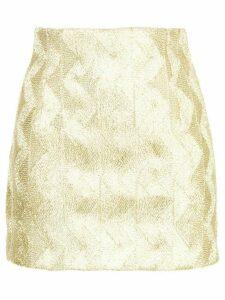 Manning Cartell zigzag mini skirt - Metallic