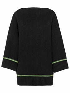 Prada boat neck sweater - Black