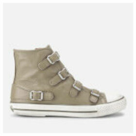 Ash Women's Virgin Leather Hi-Top Trainers - Taupe - 8
