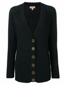 Burberry crest button cashmere cardigan - Black