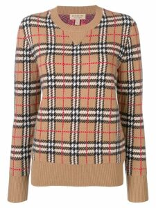 Burberry Vintage Check cashmere jacquard jumper - Brown
