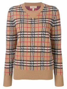 Burberry Vintage Check cashmere jacquard jumper - Brown