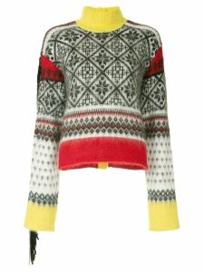 Nº21 winter print knit sweater - Multicolour
