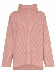Le Kasha lisbon ribbed turtleneck cashmere jumper - PINK