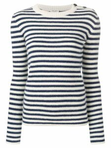 Saint Laurent striped fitted sweater - Blue