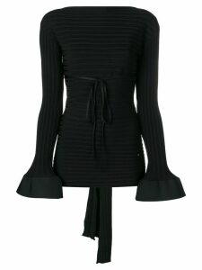 Esteban Cortazar tied back peplum sweater - Black