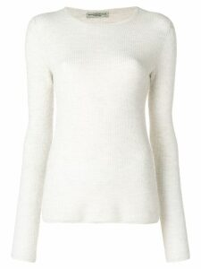 Holland & Holland long-sleeve fitted sweater - White