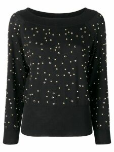 Elie Saab stud detailed jumper - Black
