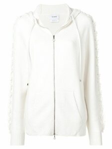 Barrie zipped knit hoodie - White