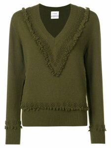 Barrie embroidered V-neck pullover - Green