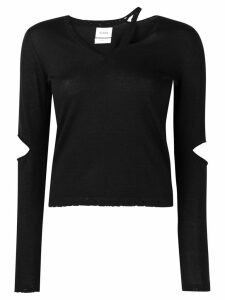 Barrie cut-out v-neck jumper - Black