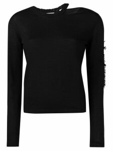 Barrie cut-out neck jumper - Black