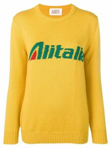 Alberta Ferretti Alitalia knit sweater - Yellow
