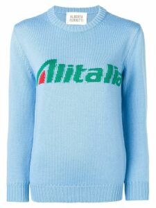 Alberta Ferretti Alitalia knit sweater - Blue
