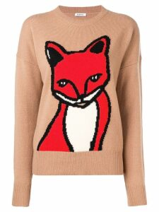 P.A.R.O.S.H. fox intarsia sweater - Brown