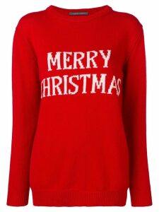Alberta Ferretti Merry Christmas knitted jumper - Red